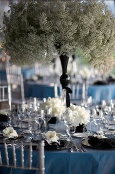 Baby's breath #centerpiece