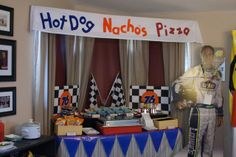 Cars Birthday Party Ideas   Photo 6 of 24   Catch My Party- Checkered print with #4