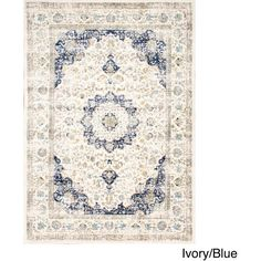 nuLOOM Traditional Persian Vintage Fancy Area Rug ($107) ❤ liked on Polyvore featuring home, rugs, floral rugs, non skid area rugs, nuloom area rugs, patterned rugs and nuloom rugs