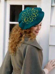 Sew a chic hat with a charming cutout design.