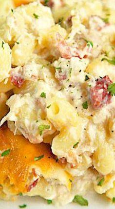 Cracked Out Chicken Alfredo Bake - Plain Chicken Paleo Chicken Recipes, Crockpot Recipes, Cooking Recipes, Oven Recipes, Cooking Ideas, Pasta Recipes, Food Ideas, Recipies, Chicken Lasagna