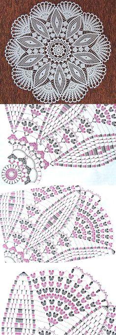 32 Ideas crochet lace motif charts ganchillo for 2019 Crochet Doily Diagram, Crochet Mandala Pattern, Crochet Chart, Thread Crochet, Crochet Stitches, Crochet Tablecloth Pattern, Crochet Dollies, Crochet Lace, Knitting Patterns