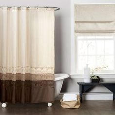 Amazon.com: Lush Decor Mia Shower Curtain, 72 by 72-Inch, Wheat/Taupe/Chocolate: Home & Kitchen