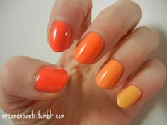 Day 2 of the challenge!! That means orange nails, and I happened to have 5 orange nail polishes that would make a perfect gradient… Insane. I do like these colors for nail art, but HOLY JESUS, this manicure probably took longer than most of the little intricate ones I do. It was literally insane. These colors are nice and vibrant and I love how it looks now but they're so thick and I'm impatient so I kept denting them and JEEZ. But it's pretty at least, right? The ...