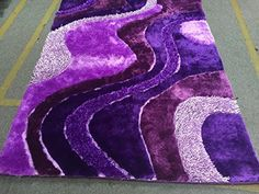 dark purple light purple lavender shaggy shag area rug 8u0027 https