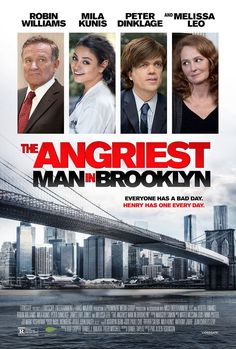 THE ANGRIEST MAN IN BROOKLYN movie review, starring Robin Williams, Mila Kunis, and Peter Dinklage