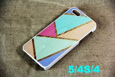 Color Piece Pattern iPhone 5 Case, Hard Platic and Rubber Case
