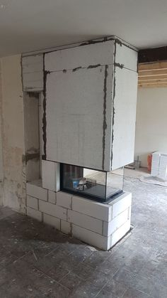 The Best Amazing Fireplace Tile Ideas for Your Living Room Komplett aus Gasbeton. Na ja. so kann mans auch machen. The post The Best Amazing Fireplace Tile Ideas for Your Living Room appeared first on Einrichtungs ideen. Living Room Decor Fireplace, Home Fireplace, Modern Fireplace, Fireplace Design, Fireplace Ideas, Fireplaces, Interior Design Living Room, Living Room Designs, Hearth Tiles