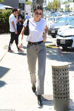 7f3cac20c69 Kendall Jenner flaunts her long legs in high waisted jeans