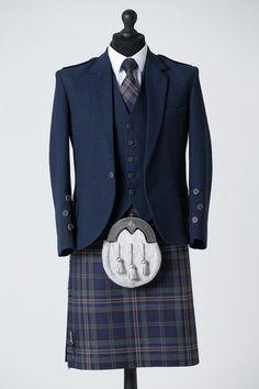 Our Arran Navy Tweed Package is now available to buy in-store and online! #macgregorandmacduff #kingsofkilts #arrantweed #arranmist #tartan #exclusive #highlandwear