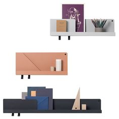 The Muuto Folded Shelf is available in various sizes and colours colours. This one measures x Buy Muuto accessories today at Utility - Original Design. Wall Storage Systems, Storage Shelves, Wall Shelves, Shelf Hooks, Muuto, Small Entryways, Design Bestseller, Bureau Design, Floating Shelves