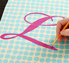 paint a pillow with a monogram or other designs- here's how!