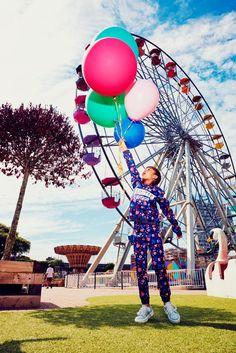 New Billieblush kids funfair fashion at Dreamland in Margate shot by Emma…