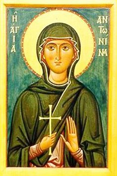 Martyr Antonina of Nicea, in Bithynia - Orthodox Church in America Catholic Saints, Roman Catholic, Day Of Pentecost, Painting Studio, Religious Icons, Walk By Faith, Art Icon, Sacred Art, Christianity