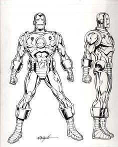Classic Iron Man Comic Book Artists, Comic Book Characters, Marvel Characters, Comic Character, Comic Books Art, Comic Art, Marvel Comics, Marvel E Dc, Marvel Heroes