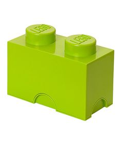 Look at this #zulilyfind! Lime Green LEGO 1 x 2 Storage Brick by LEGO #zulilyfinds