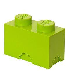 Look at this #zulilyfind! Lime Green LEGO 1 x 2 Storage Brick by LEGO #zulilyfinds