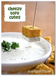 Cheezy Baked Tofu Cubes
