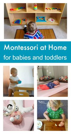 How to do Montessori at home, easy Montessori activities for babies and toddlers. Montessori Playroom, Montessori Education, Montessori Toddler, Toddler Play, Baby Play, Play 1, Baby Education, Infant Activities, Preschool Activities
