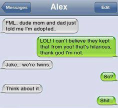 Really Funny Texting Fail Funny Texts Jokes, Text Jokes, Funny Text Fails, Cute Texts, Stupid Funny Memes, Funny Relatable Memes, Hilarious, Funny Stuff, Really Funny Texts