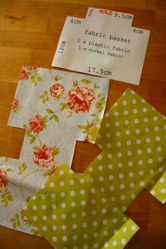 Fabric basket/tub template and tutorial - good clear instructions