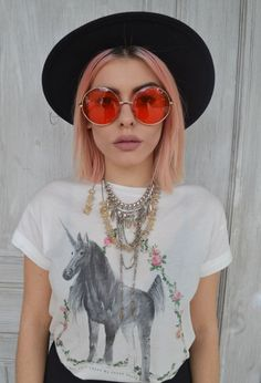 Valid Style: Indie Festival Hippie Oversize Round Colorful Lens Sunglasses 9580