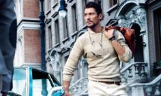 David Gandy and Carolyn Murphy for Massimo Dutti SS 2014 - 689 5th Collection.  Photographed by Mario Testino.