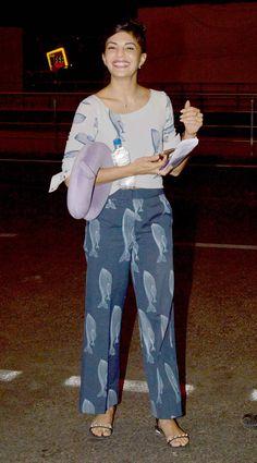 Jacqueline Fernandez at the Mumbai airport. #Bollywood #Fashion #Style #Beauty…