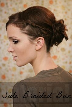 This but with a normal messy bun with braids on the side of your hair incorporated into it with the braids as if I were pinning them up half up/half down.