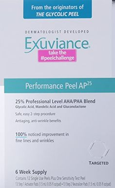 Exuviance Performance Peel 13 Count * For more information, visit image link. (This is an affiliate link) Glycolic Peel, Glycolic Acid, Facial Skin Care, Anti Aging Skin Care, Mandelic Acid, Face Treatment, Anti Wrinkle, Body Care, Counting