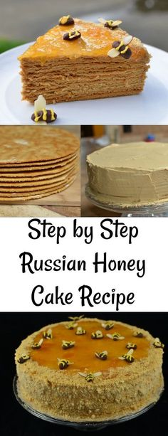 you ever tried Russian Honey Cake Recipe? Step by step recipe, if you are not a baker, this recipe is for you.Have you ever tried Russian Honey Cake Recipe? Step by step recipe, if you are not a baker, this recipe is for you. Russian Honey Cake, Russian Cakes, Russian Desserts, Russian Recipes, Russian Foods, Hungarian Recipes, Honey Recipes, Sweet Recipes, Baking Recipes