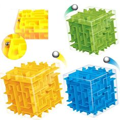Cubo mágico Laberinto 3D Laberinto Rompecabezas y Cubos de la Magia de Balanceo de la Bola Juguetes Educativos Juego de Puzzle Cubos de Inteligencia Bebé Juguetes Para Niños