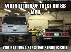 I want a time traveling, flying Jeep Cherokee Jeep Jokes, Jeep Humor, Car Jokes, Car Humor, Truck Memes, Funny Car Memes, Jeep Funny, Hilarious, Funny Laugh