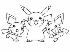 Desenhos bonitos para colorir - Pokémon
