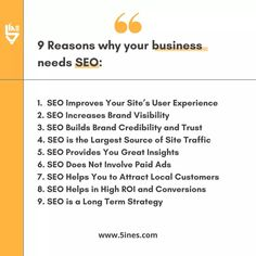 Here's Why Your Business Needs SEO in 2020. 9 Reasons to Invest in SEO.  #SEO #Digitalmarketing #Onlinemarketing Online Marketing, Digital Marketing, User Experience, Seo, Improve Yourself, Insight, Investing, Business
