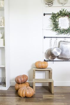 We Gather Together To Ask The Lord's Blessing - Hurricane Florence - And A Farmhouse Kitchen/Dining Room Decorated With Orange Pumpkins for Fall/Autumn