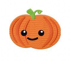 4X4 Halloween Pumpkin Jack O Lantern Machine by StichinItUp, $2.00