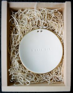ring bowl by Paloma's Nest with personalized text