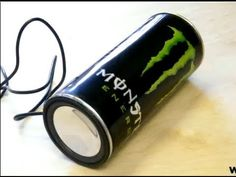 ▶ Tutorial: Monster Energy Speaker Can by PyroPiraat - How to make your own one! - YouTube