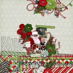 Digital Scrapbook Layout by Elizabeth | Head Elf Kit | Bella Gypsy Designs