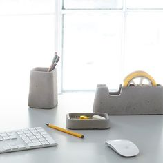 A weighty set of office accoutrement,