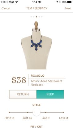 Romolo - Amari Stone Statement Necklace