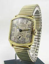"""Mens HAMILTON """"Serviced"""" Engraved Tonneau Case 17 Jewel 987  Art Deco Watch"""