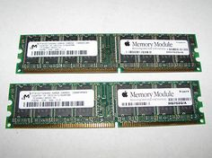 Genuine Apple Micron 512MB (2X256MB) PC-3200 DDR-400 CL3 Memory Modules