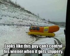 Looks like this guy can't control his wiener when it gets slippery.