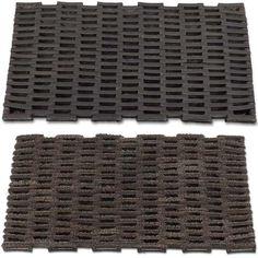 Recycle old tyres into door mats