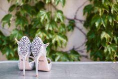 Jeweled Badgley Mischka Heels