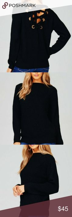 Black back cut out sweater Super cute warm sweater with back out & Other Stories Sweaters