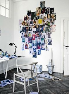 inspiration - mood board - home office - fotocollage