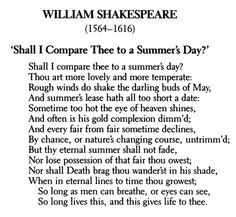 Shall I compare thee to a summer's day? : Sonnet XVIII by William Shakespeare